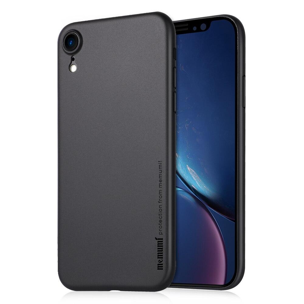 """Étui pour iPhone memumi XR 6.1 """"2018, finition mate Ultra mince 0.3mm PP pour coque de téléphone mince iPhone XR anti-traces de doigts"""