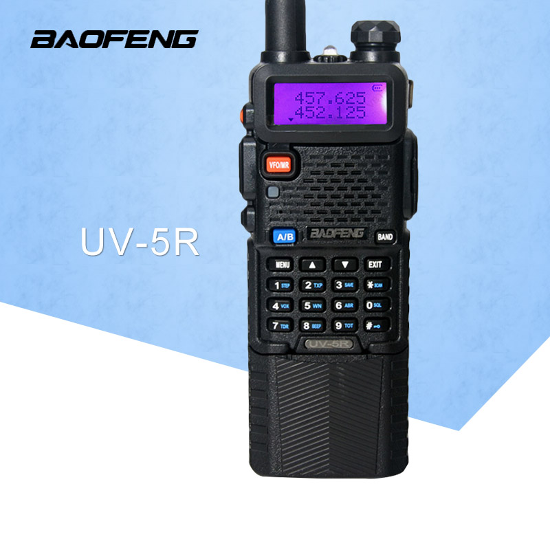 Baofeng UV 5R 3800mAh Walkie Talkie 5W Dual Band Radio UHF 400 520MHz VHF 136 174MHz
