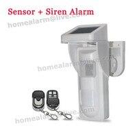 Simple On Site Alarm 16 Voice Optional Wireless Intelligent Outdoor Solar PIR Alertor For House Villar