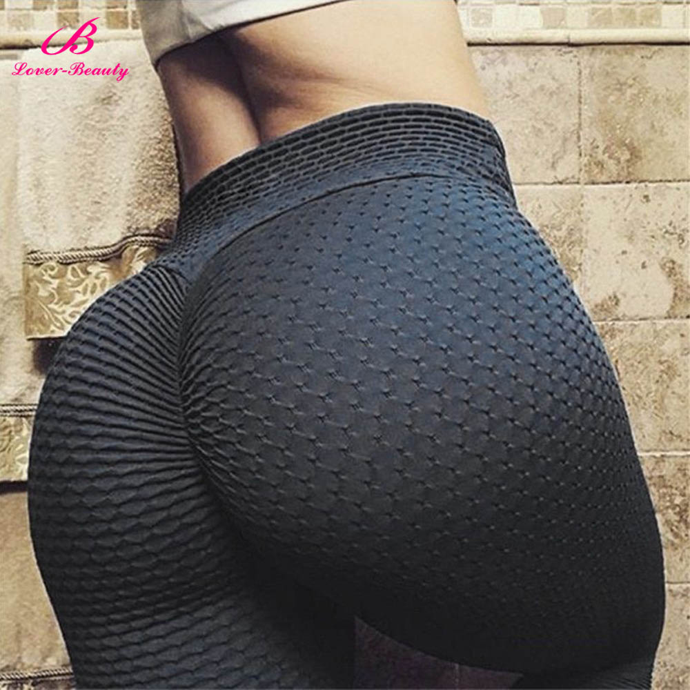 Lover Beauty Womens   Leggings   Breathable Sexy Pants Butt Lift Hips Sweat Fitness Casual Slim Push Up Workout Skinny Running Pants