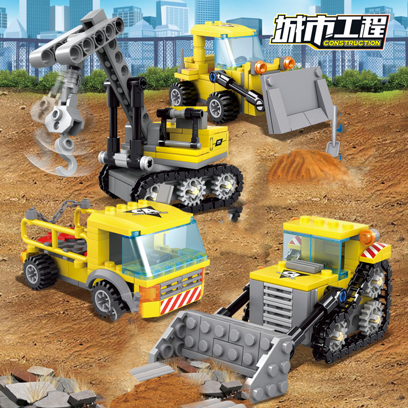 4-in1-City-Construction-Engineering-Excavator-Vehicles-Bulldozer-Building-Blocks-Technic-Bricks-Children-Educational-Toys-Gifts (5)