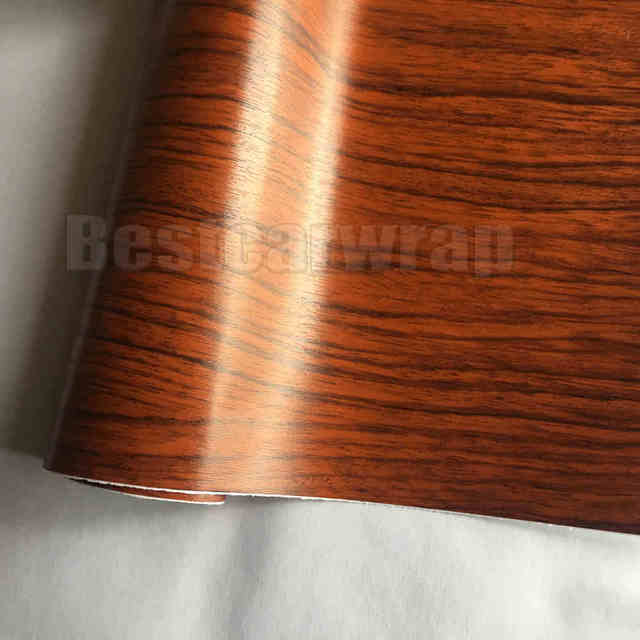 Teak Wood Grain Faux Finish Textured Vinyl Wrap Car Paper Film Diy Interior Covering Self Adhesive Protwraps 1 52x20m