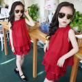 Summer New Pattern Girl Summer Wear Children Suit Child Long 2 Pieces Kids Set Children's Garment  Kids Suits