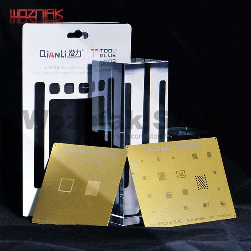 QIANLI IOS Golden 2D 3D REBALLING GOLDEN STENCIL Net NAND baseband IC/CPU A8 A9 A10 A11 Tin Planting Template for IPHONE 6 7 8PQIANLI IOS Golden 2D 3D REBALLING GOLDEN STENCIL Net NAND baseband IC/CPU A8 A9 A10 A11 Tin Planting Template for IPHONE 6 7 8P