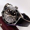 41mm Corgeut watch black dial golden rim hands black insert Bezel sapphire glass MIYOTA Automatic movement  Men's watch P137