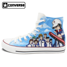 High Top Converse All Star Men Women Shoes Anime The Prince of Tennis Design Hand Painted Shoes Man Woman Sneakers