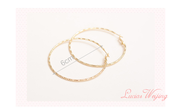 NANBO Europe & United States Women Fashion Charms Big Round earrings for female Gold Jewelery