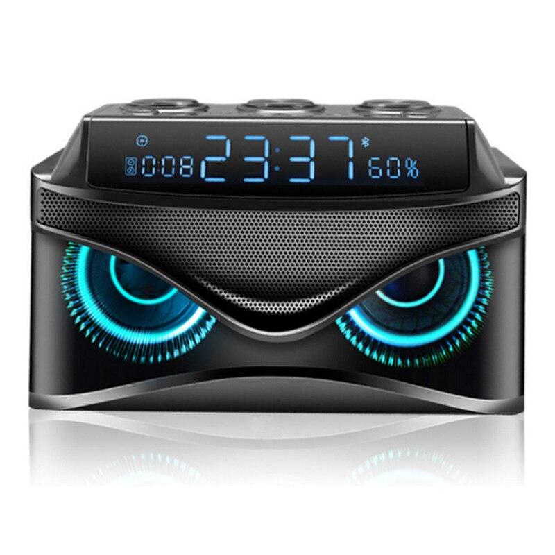 EAAGD LED Dimmerabile Digitale Desk Alarm Clock con Wireless 19 W Intelligente Bluetooth Speaker/Micro TF Slot/FM Radio/AUX