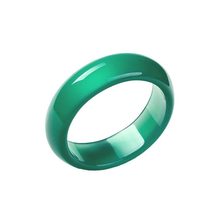เครื่องประดับจัดส่งฟรีคริสตัล chalcedony ท่องเที่ยวสีแดงหางแหวนเครื่องประดับแหวนคนรักผู้หญิงผู้ชายเครื่องประดับ Unisex สีเขียวอเมทิสต์แหวน