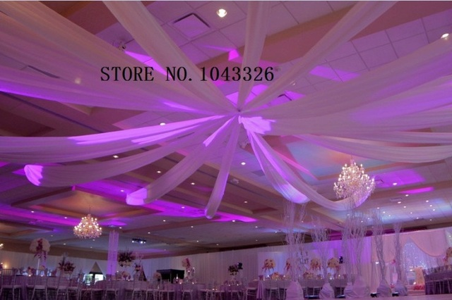 Wedding event decor ceiling fabric sheer draping 0.45m*8m 12pcs/lot ...