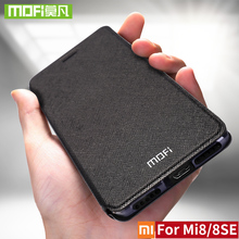 For Xiaomi Mi8 Case For Xiaomi Mi8 SE Case Cover silicone Flip Leather Mi 8 magnetic Original Mofi For Xiaomi Mi8 SE Case bumper