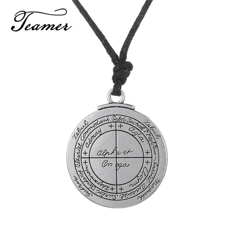 Amulet Sun Talisman Pendant Necklace Key of Solomon Hermetic Enochian Wiccan