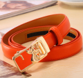 100% Genuine Cowhide Leather Split Solid Belts Leather female Waist belts for women metal buckle strap heart printed apparel