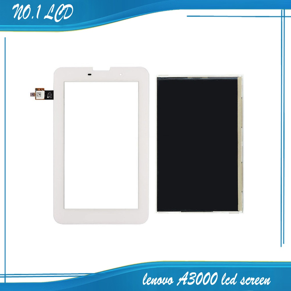 for Lenovo Tablet IdeaTab A3000 LCD Display Panel Monitor Moudle + White Touch Screen Digitizer Glass Sensor Replacement аксессуар чехол lenovo ideatab s6000 g case executive white