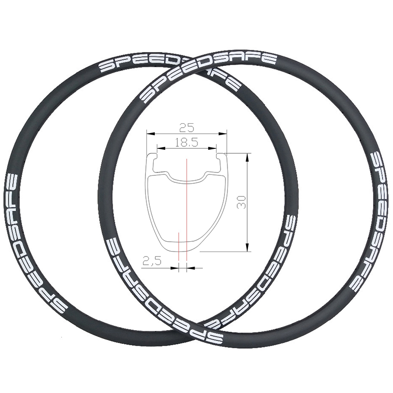 360g 30mm asymmetric clincher road disc carbon rims 25mm width UD 3K 12K twill tubeless compatible
