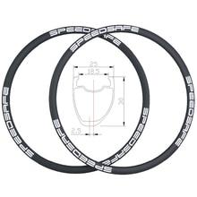 360g 30mm assimétrico clincher estrada disco de carbono jantes 25mm largura ud 3 k 12 k sarja sem tubo compatível 24 h 28 h 32 h mamilos externos