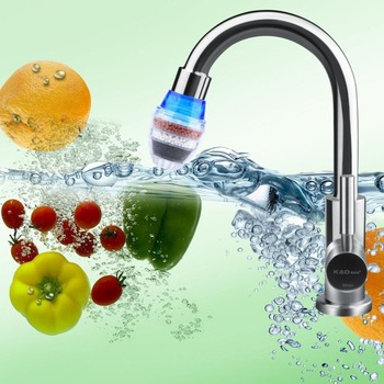 Hot Worldwide Coconut Carbon Home Kitchen Faucet Tap Water Clean Purifier Filter Cartridge Round Tap Filter Non-woven Laye Water Filters