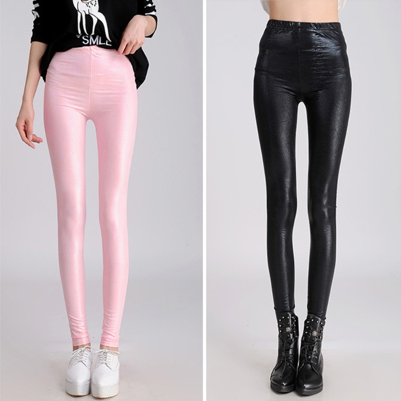 2018 Winter warm women faux leather pants Girl Faux Leather Snakeskin Stretchy Pencil Pants Jegging   Leggings   Female