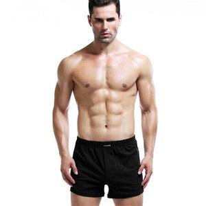 Image 2 - Người đàn ông của Võ Sĩ Cotton Mens Đồ Lót 4 cái/lốc Rắn Homme Quần Lót Võ Sĩ Quyền Anh với Dây Thắt Lưng Đàn Hồi Quần Short Lỏng người đàn ông L XL XXL XXXL