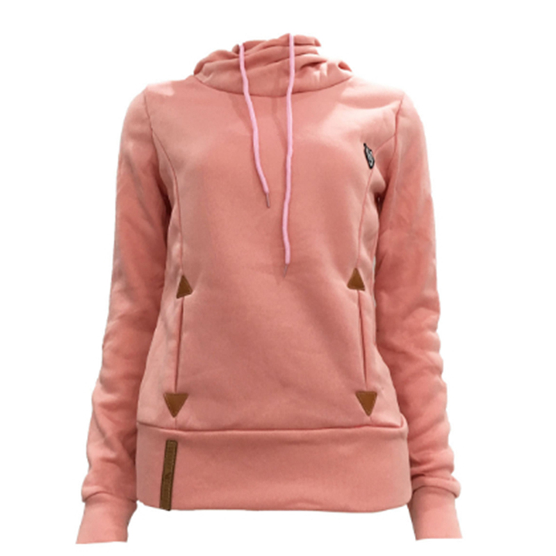 New Autumn Women Hoodies Long Sleeve Slim Casual Pullovers Hoodies Draw Cord Two Pockets Classic Hooded Sweatshirts 5XL