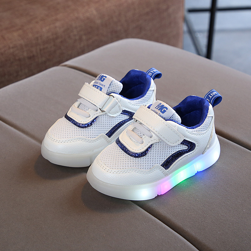 New infant tennis European fashion mesh LED children shoes cute baby girls boys shoes footwear fashion Lovely kids sneakers