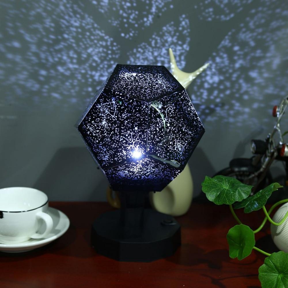 Presa Fornitori Romantic Astro Stella Proiezione del Cielo Cosmo Lampada di Notte Notte Stellata Romantica Camera Da Letto Illuminazione Della Decorazione Gadget