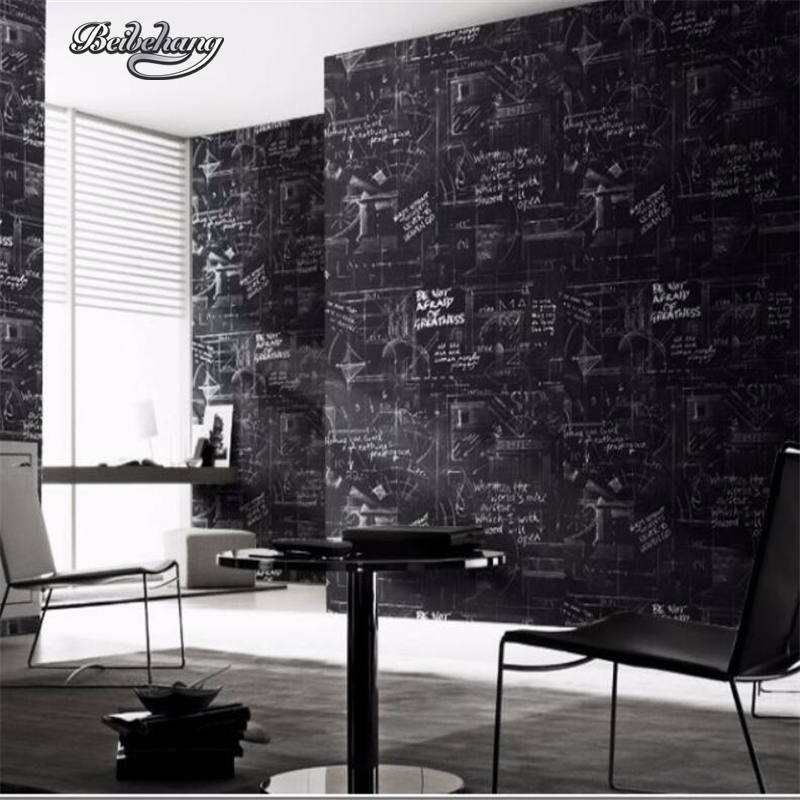 beibehang moderne abstraite ligne papier peint noir mur. Black Bedroom Furniture Sets. Home Design Ideas
