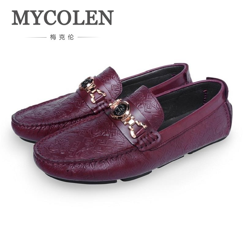 MYCOLEN Men Casual Shoes Luxury Brand Fashion Slip On Crocodile Pattern Shoes Men Summer Classic Mens Shoes Male Leather Shoes mycolen mens loafers genuine leather italian luxury crocodile pattern autumn shoes men slip on casual business shoes for male