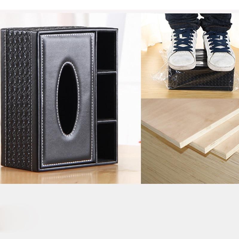 European Multi function New Arrival Tissue Box Napkin Holder PU Leather Remote Controller Storage Box Desk Cosmetics Organizer in Storage Boxes Bins from Home Garden