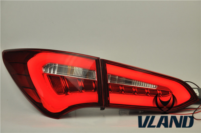 Free Shipping for Vland car Styling Tail Light for New SantaFe IX45 Rear Lamp 2013 2014 2015 2016