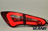 Super Quality ABS Rear Lamp Car StylingTail Light Trim Strips Molding Styling For Hyundai SantaFe 2013