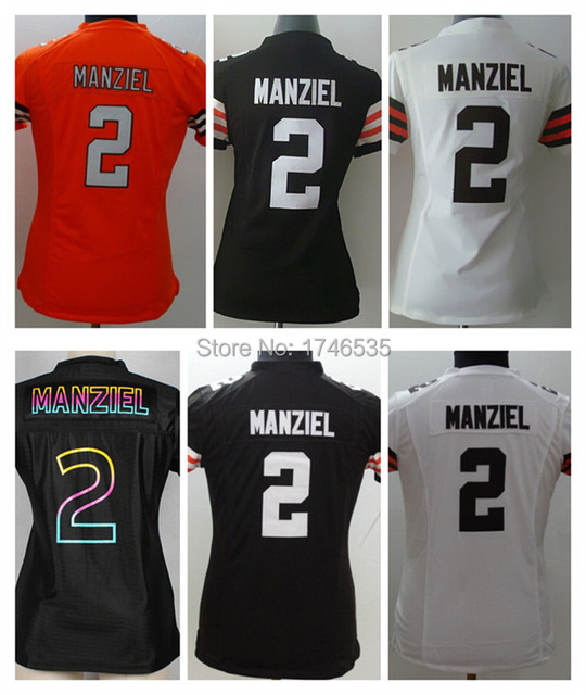 Free Shipping Newest 2 Johnny Manziel Jersey Lady Rugby Shirt Womens  American Football Jersey Fashion Limited Stitched Wholesale 362e4cf9a8