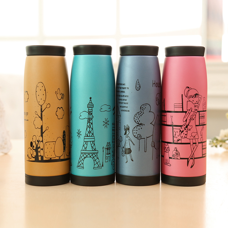 500ml Cute Women Vacuum 304 Stainless Steel Coffee Tea
