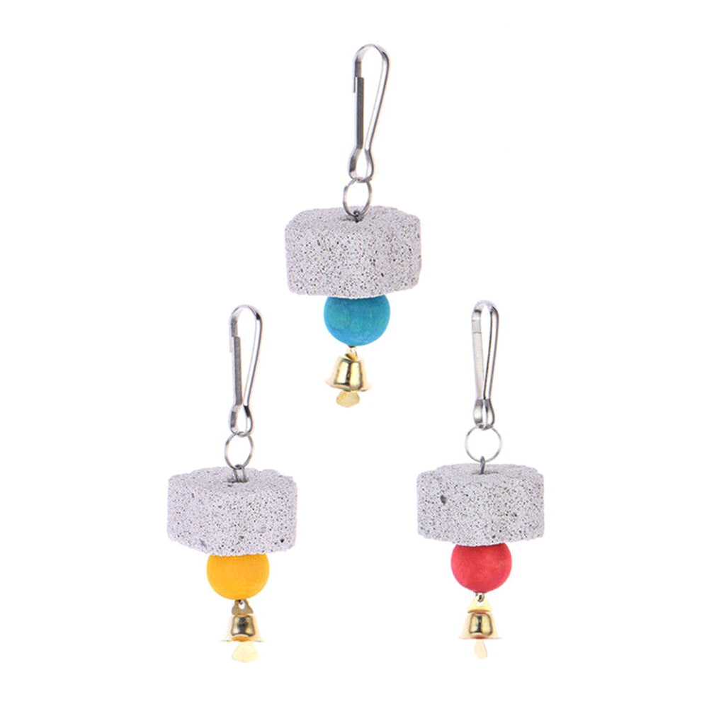 Hot Sale Cool And Practical Pratical Parrot Mouth Grinding Stone Molars Stone Hanging String Hot Sale in Bird Toys from Home Garden
