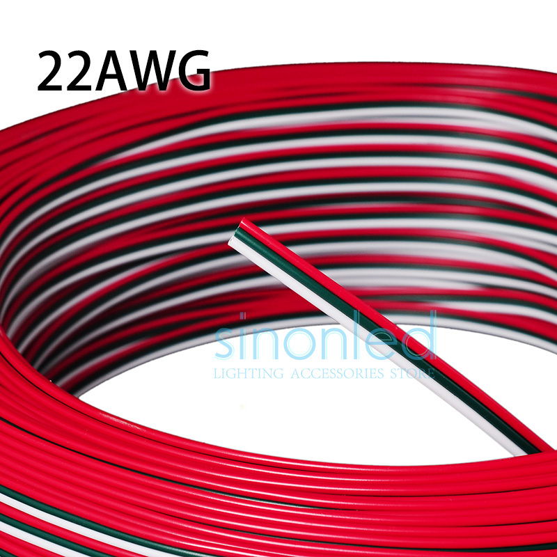 Wholesale 50m 3pin 22AWG Red/Green/White wire Cable For WS2812 <font><b>WS2811</b></font>,TM1804,TM1809,TLS3001 <font><b>LED</b></font> <font><b>Pixel</b></font> Module Light