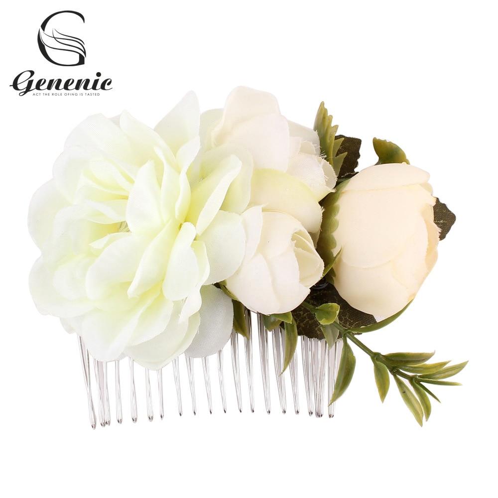 Elegant Garden Ivory Elegant Wedding Flower Rose Girl Clip Headband Accessory