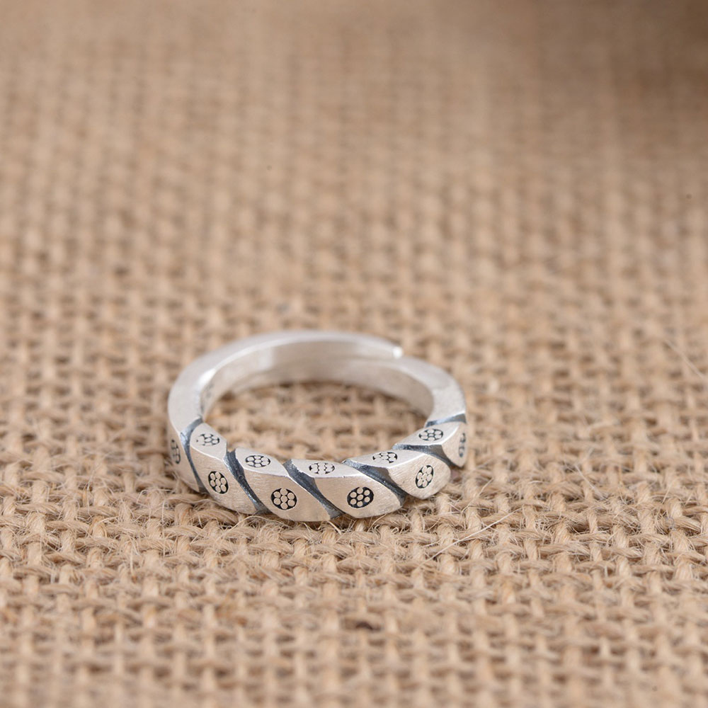 925 Silver Simple Ring 100% Real S925 Sterling Thai Silver Rings for Women Jewelry Adjustable Size