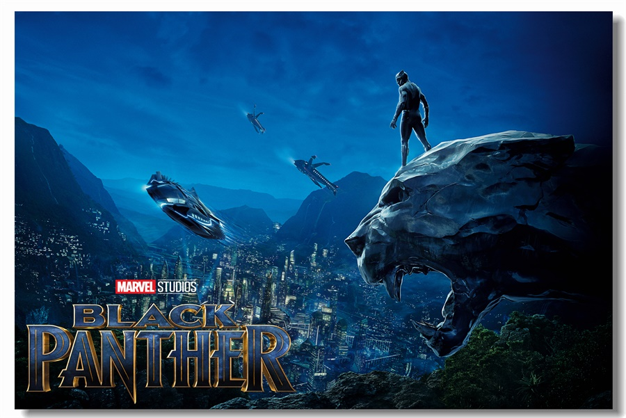 Us 575 28 Offcustom Canvas Paintings Black Panther Poster Black Panther Wallpaper Marvel Superhero Wall Sticker Mural Kids Room Decals 0320 In