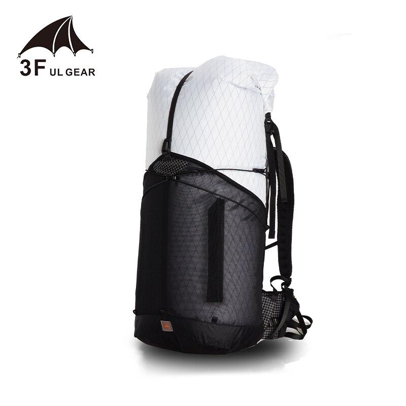 3F UL GEAR 55L grand XPAC escalade sac à dos extérieur ultra-léger cadre moins sacs léger Durable voyage Camping randonnée - 4