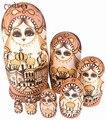 Madeira Matryoshka russa Nested donzela desejando boneca Matryoshka boneca, Étnico de presente