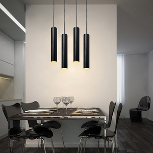 Image 3 - Pendant Lamp dimmable Lights Hanging lamp Kitchen Island Dining Room Shop Bar Counter Decoration Cylinder Pipe Kitchen Lights