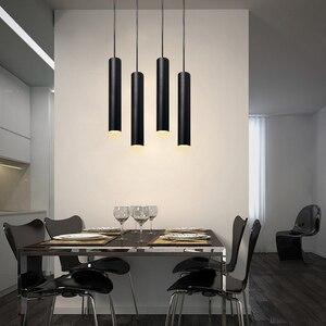 Image 3 - תליון מנורת dimmable אורות תליית מנורת מטבח אי אוכל חדר חנות בר דלפק קישוט צילינדר צינור מטבח אורות