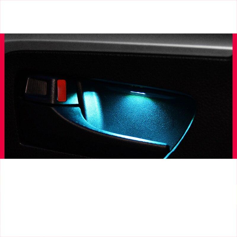 Lsrtw2017 led voiture intérieur porte lumière d'atmosphère pour toyota rav4 2013 2014 2015 2016 2017 2018