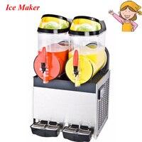 1pc Double Tank Stainless Steel Drink Iced Granita Crushed Ice Maker Machine Slush Machine XRJ 10L