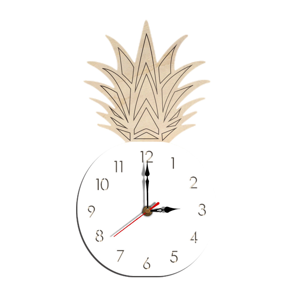 Creative Nordic Style Fruit Wall Clock Unique Silent Wooden DIY Clock Living Room Dining Room Home Decor Clock