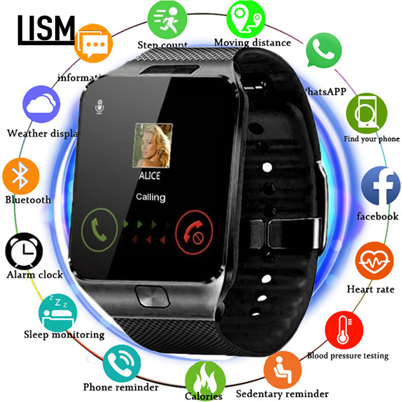 Bluetooth relógio inteligente dz09 smartwatch android chamada de telefone relogio 2g gsm sim 16g sd cartão câmera banda para iphone samsung huawei