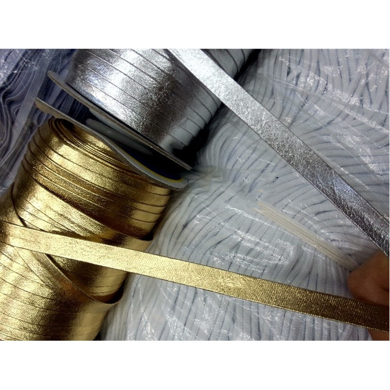 15mm Faux Leather PU Bias Binding Tape Silver Gold For DIY