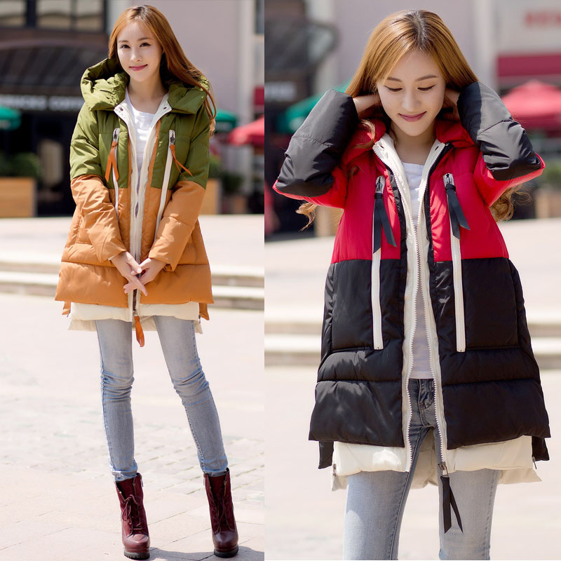 Maternity winter 2016 new Korean large code loose coat jacket in the long thick cotton industry of pregnant women