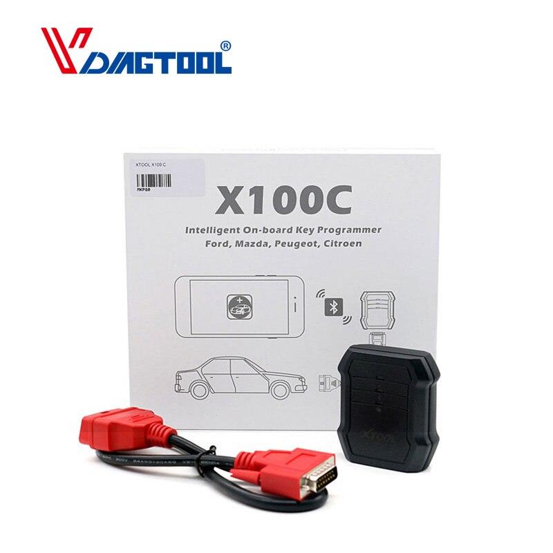 XTOOL X100C X100 C Auto Programador Chave para Fo-rd/Mazda/Peugeot/Citroen 4 em 1 leitor de código pin melhor do que F100 F108 F102