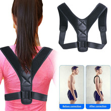 Adjustable Back Posture Corrector Clavicle Spine Shoulder Su